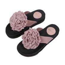 купить Women's Slippers 2019 Summer Fashion New Flowers Flip Flops Female Shoes Flat Outdoor Casual Beach Sandals Women Slippers по цене 1201.79 рублей