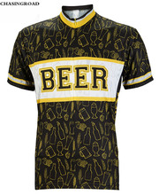 Beer All Over Print Mens Cycling Jersey Summer Bike Clothing Breathable Cycling Clothing SportsWear