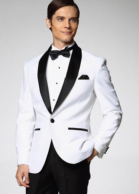 New Slim Fit Groom Tuxedos Best man Shawl Black Collar Groomsman Wedding Suits Bridegroom Men's Sets (Jacket+Pants)
