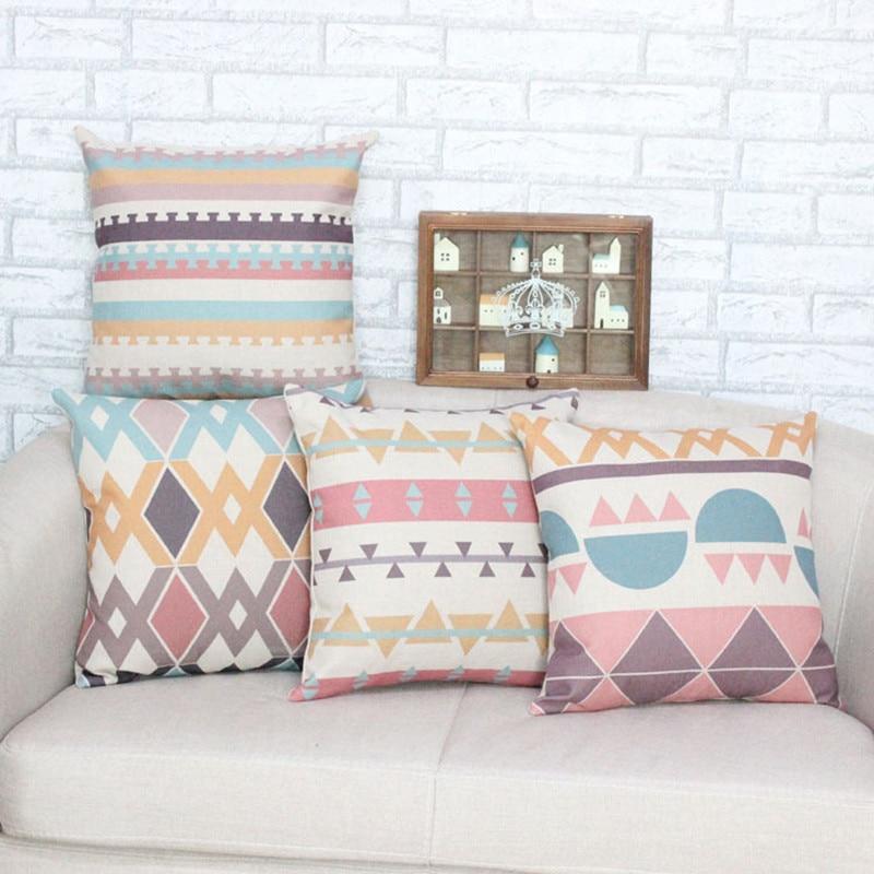 ②45*45 cm moda creativa geometría sofá Cojines Tapas Papa