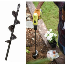Dropshipping Earth Auger Hole Digger Tools Planting Machine Drill Bit Fence Borer Petrol Post Hole Digger Garden Tool 60mm single double drill bit earth drill blade earth auger head for gasoline drill electric hammer and water borer