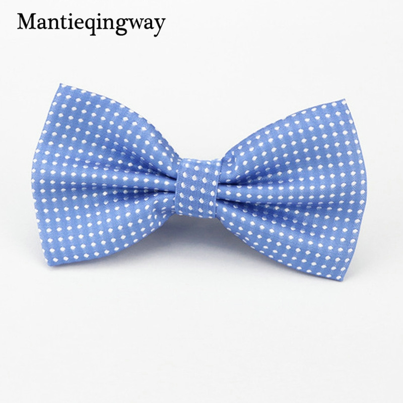 Mantieqingway Candy Color Bowtie Fashion Baby Boys Girls Wedding Suits Accessories Bowties Cute Kids Bow Tie Children Dots Ties
