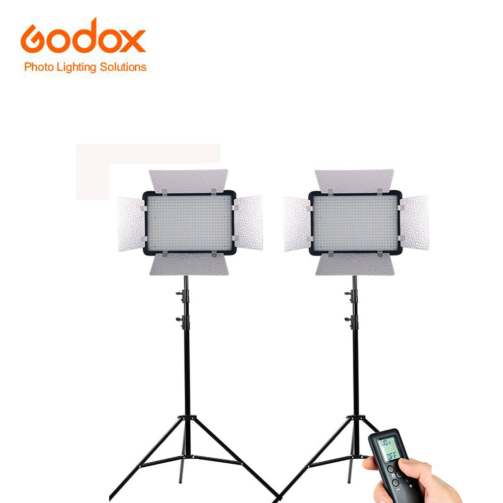 Godox LED500LRW white version LED Studio Video Photographic Lamp yellow filter Remote Controller for Camera DV Camcorder godox led308y 3300k 380 led video light lamp wireless remote handle grip for dv camcorder camera