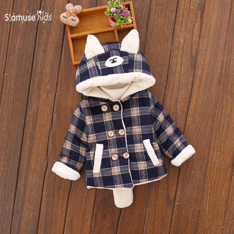 Для маленьких мальчиков зимняя одежда Куртки теплые Искусственный мех пальто Детская куртка Верхняя одежда с капюшоном для мальчиков детс...