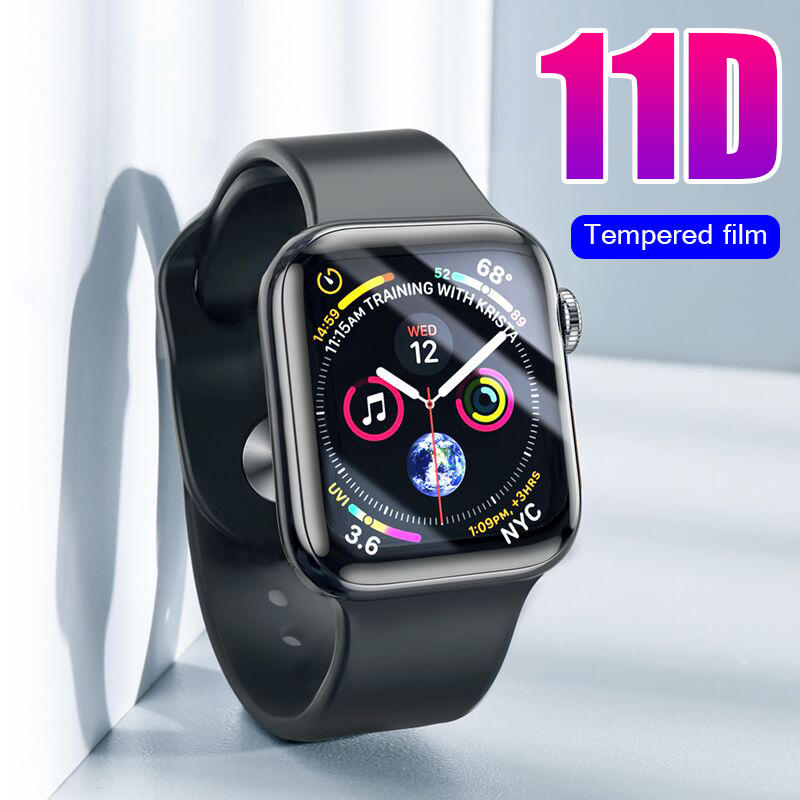 Full-Protective-Glass Screen-Protector-Film Apple-Watch 11D 1-2-3-4-Tempered-Glass-Cover