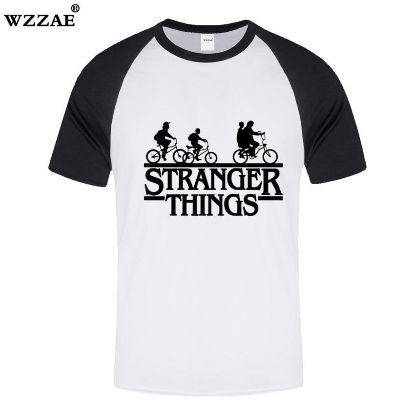 HOT !!! Mens   t     shirts   Fashion 2018 Stranger Things Men Tshirt 100% Cotton Spell Color Short Sleeve Men Fashion   Shirt   Tops Tees