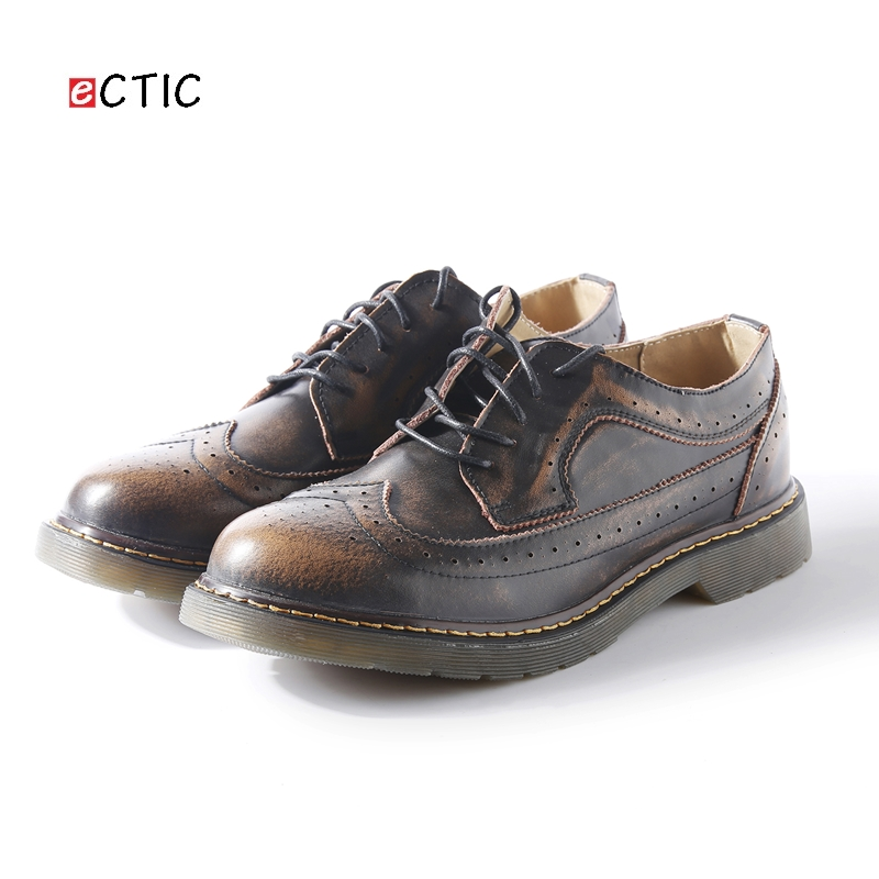 MYC Mens Pointed-Toe Brogue Perforated Wingtip Lace Up Closure Oxford Shoes Size 7-10
