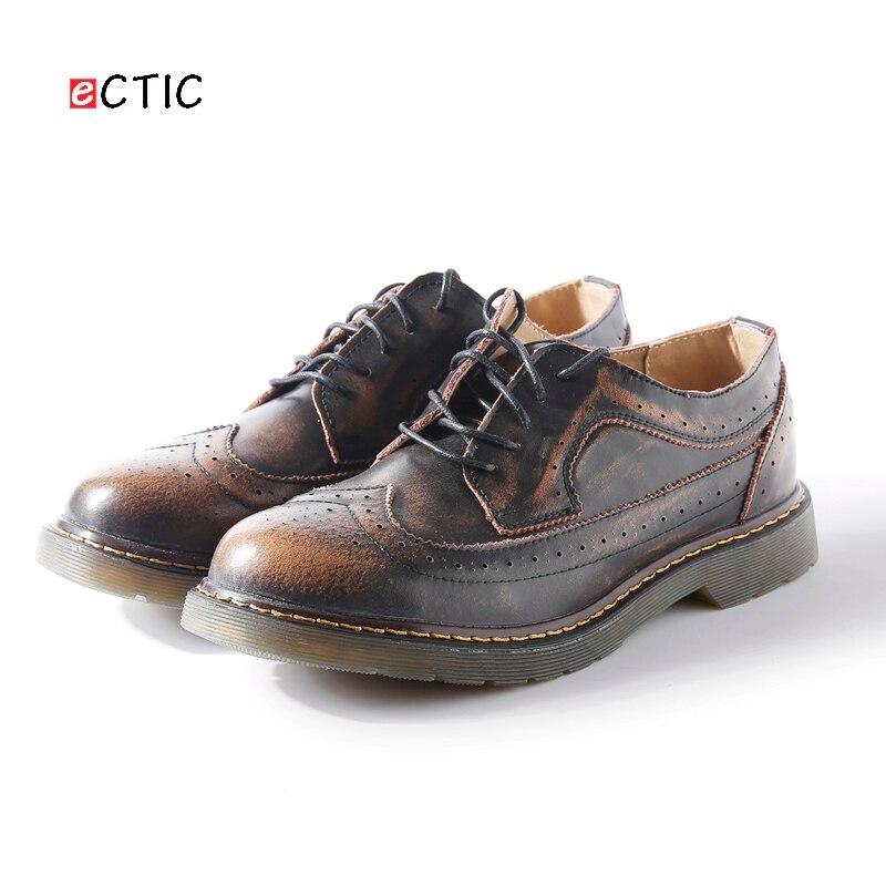 Steampunk Style marque hommes richelieu chaussures plateforme hommes Oxfords chaussures Style britannique Creepers découpes plat décontracté luxe bordeaux