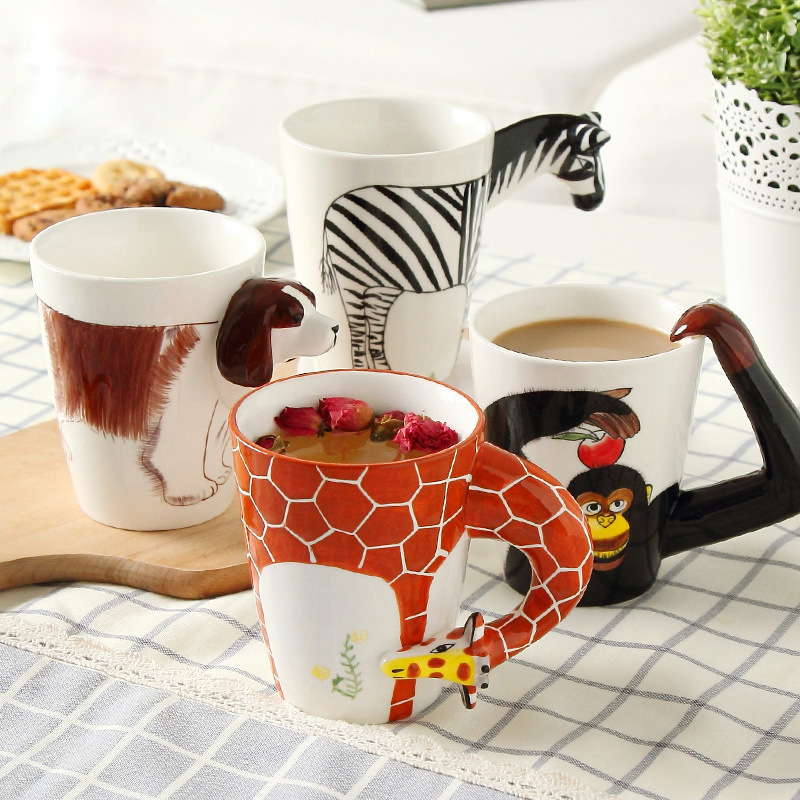 Giraffe Coffee Mug - Coffee Drinker