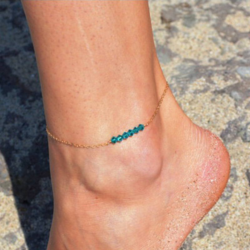 European And American Fashion New Anklet Simple Crystal Ladies Anklet Wholesale Sales Women Anklets Foot Accessories