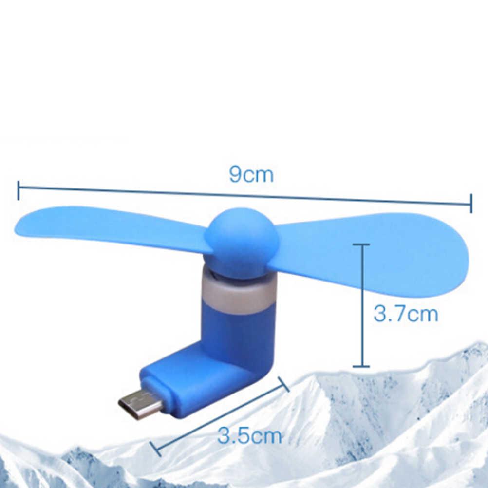 Mini 2 in 1 Tragbare Micro USB Silikon Fan Für iPhone 5 6 hand Fan für Samsung Für HTC Android für OTG Smartphones USB Gadget