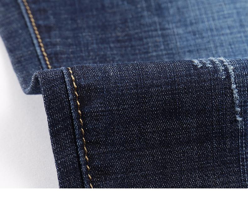 KSTUN Men Jeans Famous Brand 2019 Slim Straight Business Casual Dark Blue Thin Elasticity Cotton Denim Pants Trousers pantalon 17