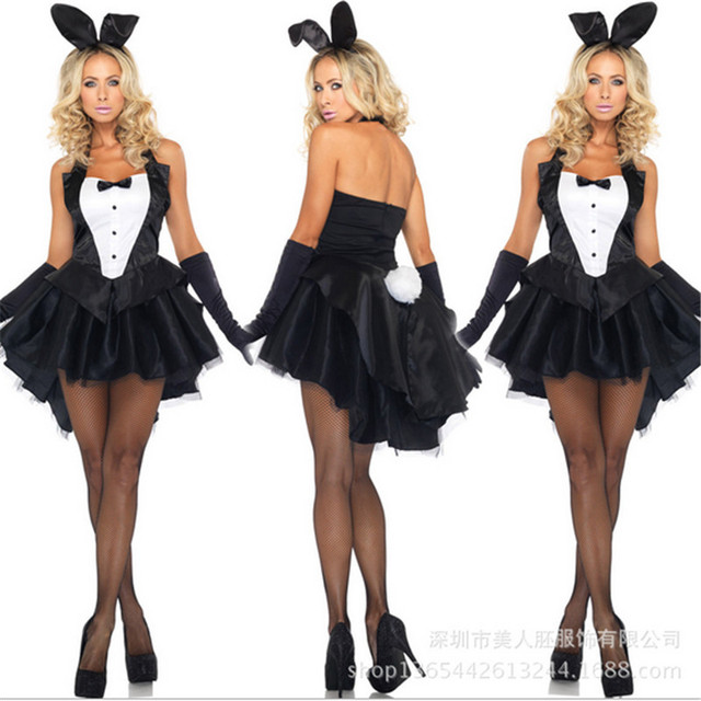 Bunny Girl Rabbit Costumes Sexy Halloween Costume for women Adult ...