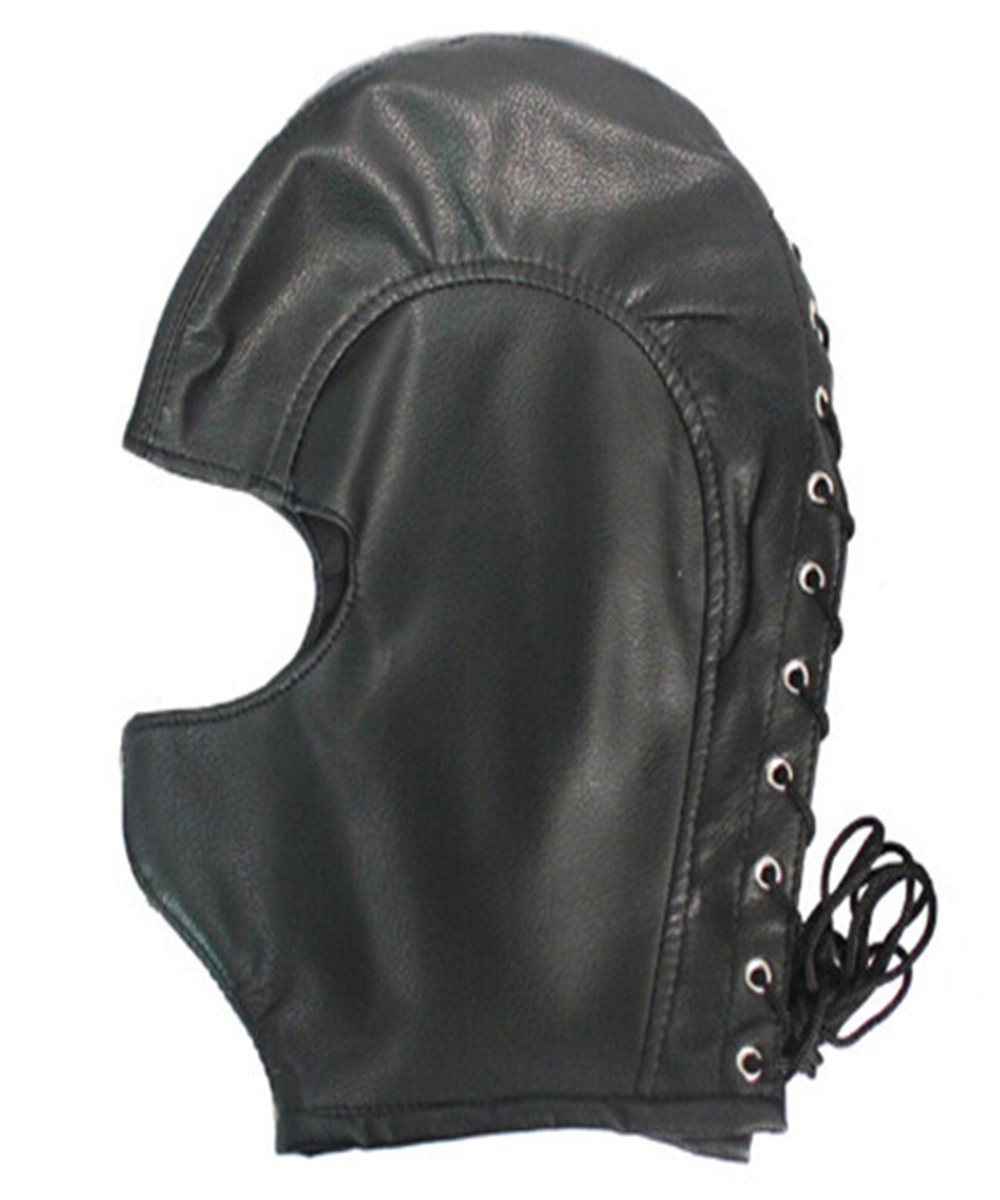 Big Soft PVC Leather Hood Mask Headgear In Adult Games For Couples,Fetish Sex Products Toys For Men And Women - AW3