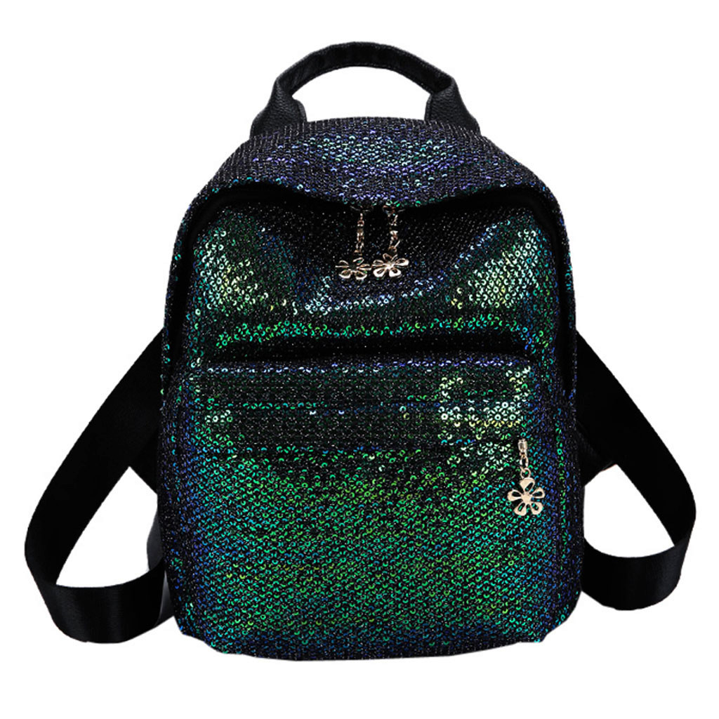 Portable Women Sequins Backpack Girls Women Sequin Hit Color School Backpack Student  Mochila Feminina Escolar Adolescente HWPortable Women Sequins Backpack Girls Women Sequin Hit Color School Backpack Student  Mochila Feminina Escolar Adolescente HW