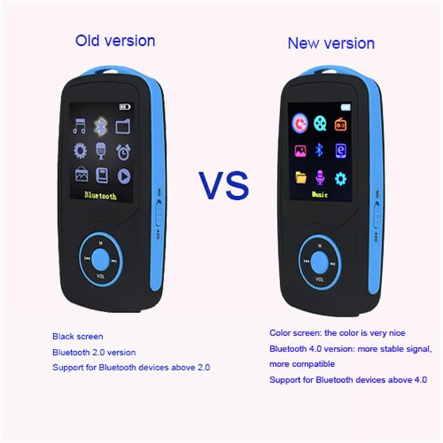 RUIZU X06 Bluetooth MP3 Player 16GB bluetooth 4.0 Sport With mp3 Player 70 Hours High Quality lossless Music player Recorder FM