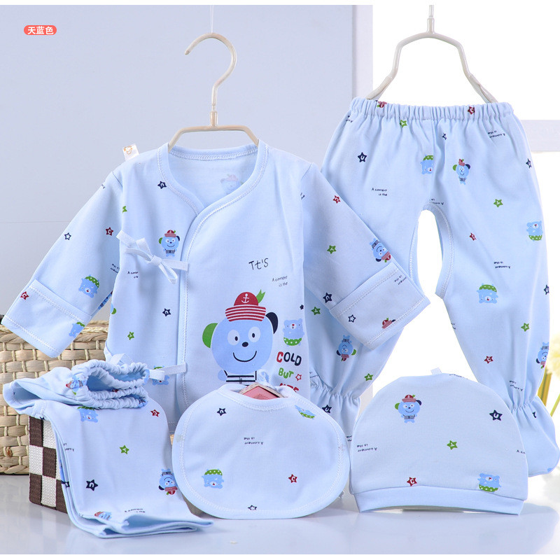 c03e0927fb1d0 0-3メートル新生児ベビー服セット男の子女の子柔らかい下着動物プリントベビー服100%