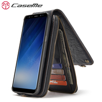 CaseMe Song For Samsung S8 S8 Plus Fashion Wallet Card Slot Leather Phone Cases Magnetic Cover
