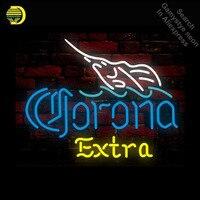 Corona Extra Neon Sign fish Neon Sign Neon Bulbs Store Display Glass Tube Handcraft Recreation Advertising Gifts Art 19x15