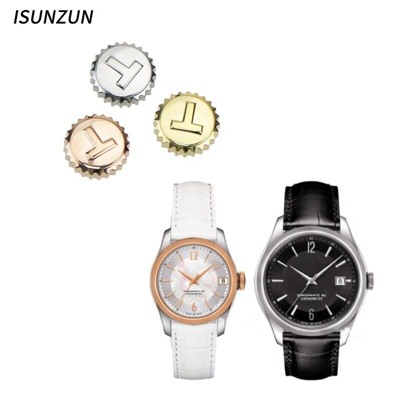 ISUNZUN haute qualité montre accessoire montre couronne pour Tissot T108 étanche Kit d'outils de réparation trois couleurs disponibles
