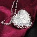 Galaxy Classic diseño del corazón 100% 925 collar colgante de plata para la mujer romántica del regalo de cumpleaños de la novia YN156