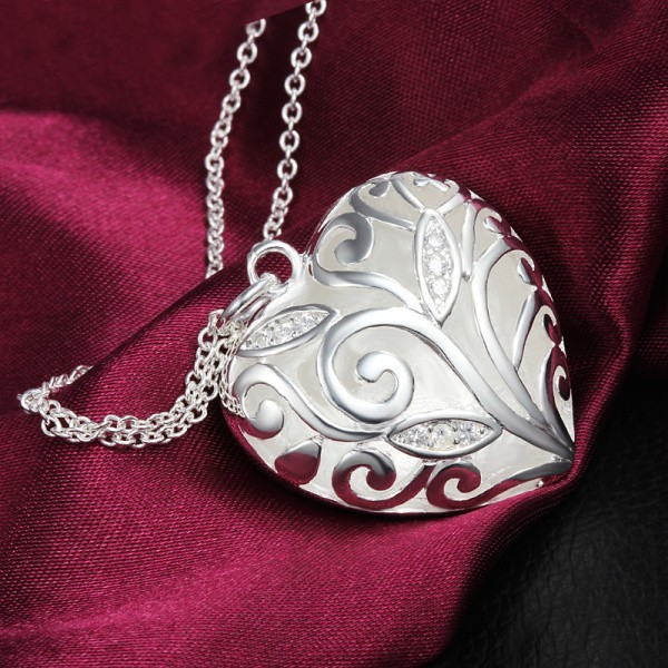 Yhamni classic heart design 100 925 sterling silver pendant yhamni classic heart design 100 925 sterling silver pendant necklace for woman romantic birthday gift for girlfriend yn156 in pendants from jewelry negle Image collections