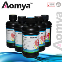 Any 8 Bottles Digital UV LED Ink 1 Bottle Cleaning Solution For Printing On Ceramic Paper