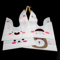 50pcs Lot 29cm 17 5cm Rabbit Ear Cookie Bags Plastic Candy Biscuit Packaging Bag Wedding Candy