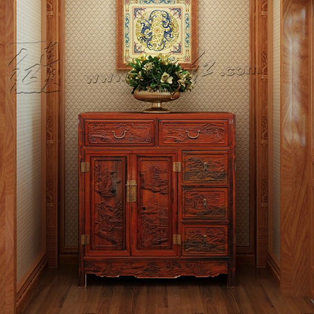 Solid Wood New Clical Retro Chest Of Drawers Lounge Room Furniture Rosewood Display Storage Cabinet Mahogany