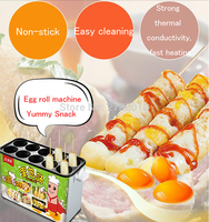 Gas Type Egg Roll Machine Non stick Eggs Pancake Roll Machine Commercial Egg Roll Snack Maker JDQ1001