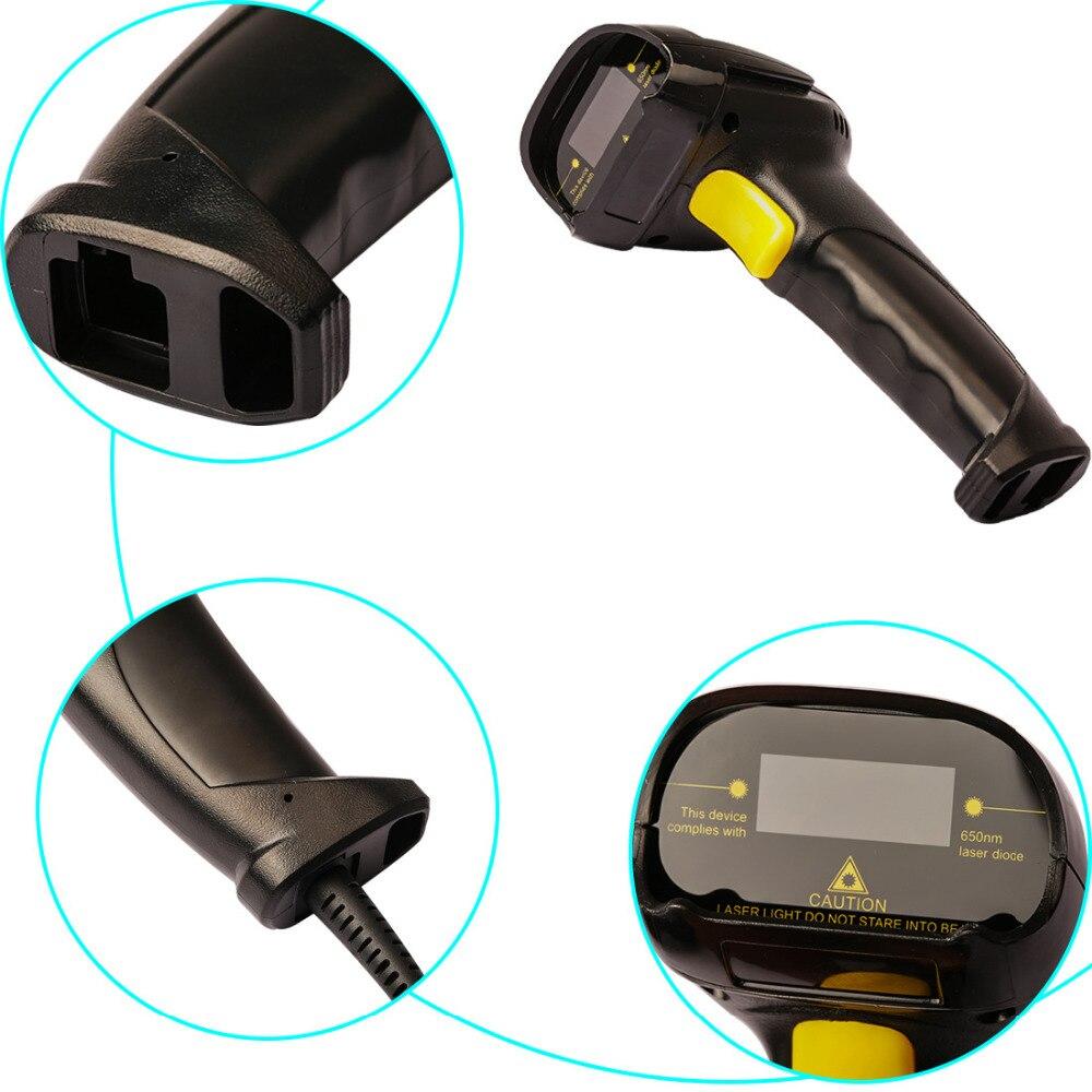 NOYOKERE Ad Alte Prestazioni Bi-direzionale Cavo USB Laser Barcode Scanner Handheld Barcode Scansione Pistola per Bar Negozio Supermercato