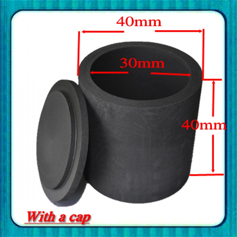 25ml With Cap Pure Graphite Crucible Kg
