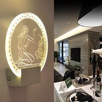 Lampy Kryształowe Lampy Ścienne LED Akrylowe Piękno Nowoczesne Lampy Światła Korytarz Światła Kryty Stylowe Romantyczny Dekoracji Domu IY121697