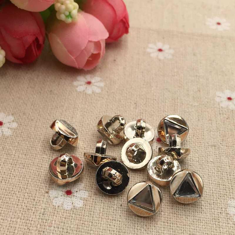 FC809 nuovo pulsante di plastica accessori di cucito triangolare diamante di cristallo maglione bottoni della camicia 10 millimetri