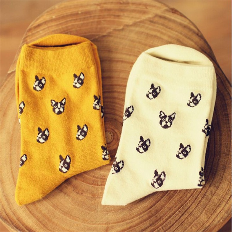 e62efed65 الماركة دوبيرمان كلب لطيف جوارب caramella النساء والرجال kawaii الكرتون  جوارب طويلة جورب الشتاء الخريف الجدة القطن الخالص