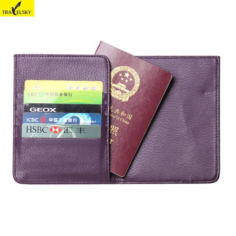 ccb3a879eeab8f Livraison gratuite travelsky rfid portefeuille blocage passeport pu en cuir  mutifunctional peut prendre les cartes de crédit, passeport, billet  titulaire
