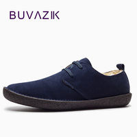 2017 Winter Cotton Shoes Men Comfortable And Warm High Quality Genuime Leather Casual Shoes Plus Cashmere