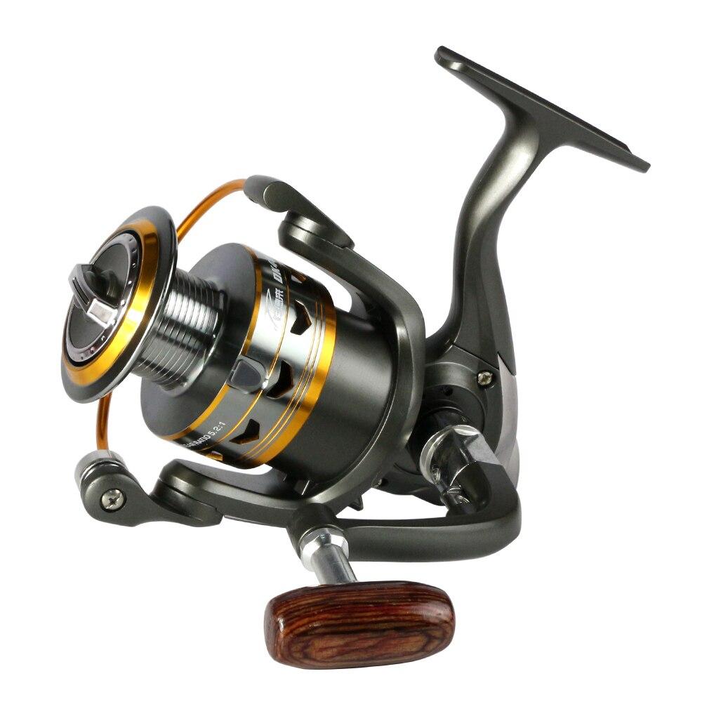 2017 chaude métal Reel Fishing 11BB 2000-6000 série moulinet pour la pêche au feeder Bois poignée moulinets de pêche pesca