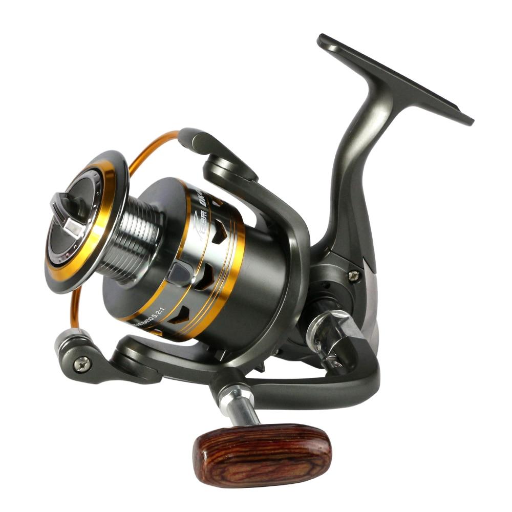 2017 hot metal Reel Fishing 11BB 2000-6000 serie spinning mulinello per la pesca a feeder maniglia di Legno bobine di pesca pesca