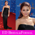 Ariana Grande negro vestido de fiesta ª Primetime Emmy Awards Red Carpet Celebrity vestido de noche Formal