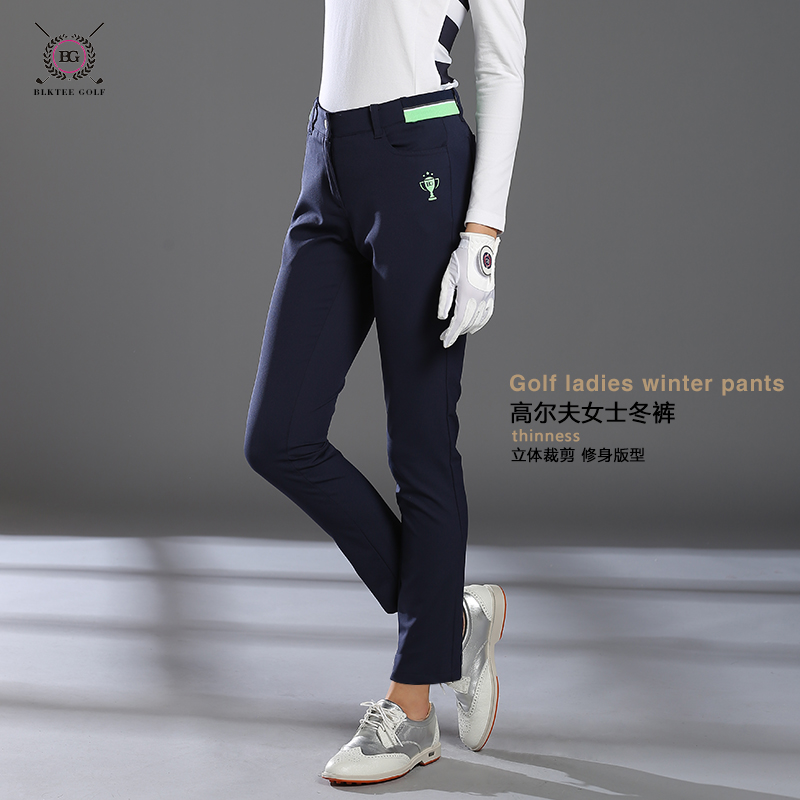 BLKTEE women brand pants autumn golf clothes lady trousers slim sports golf pants elastic quick dry girl winter thick pants цена