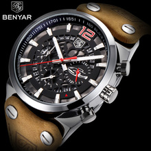 BENYAR Mens Watches Waterproof Army Chronograph Watch Brand Luxury Sports military Casual Male Watch Quartz Man Wristwatch XFCS benyar mens watches military army brand luxury sports casual waterproof male watch quartz stainless steel man wristwatch xfcs