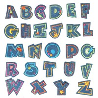 26 PCS Denim Cloth Alphabet Letter DIY Clothes Patches Sew On Iron On Fabric Appliques Sticker