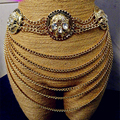 Европа личность ультра-преувеличенные многослойные цепи кисточкой широкие пояса женщин талии цепи ночной клуб черепа отделка поясной ремень