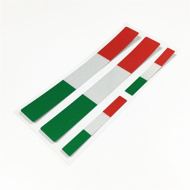 Bandera Nacional Italia pegatinas de coche casco de motocicleta calcomanía de vinilo parachoques para Vespa mechio CITY FLY 125