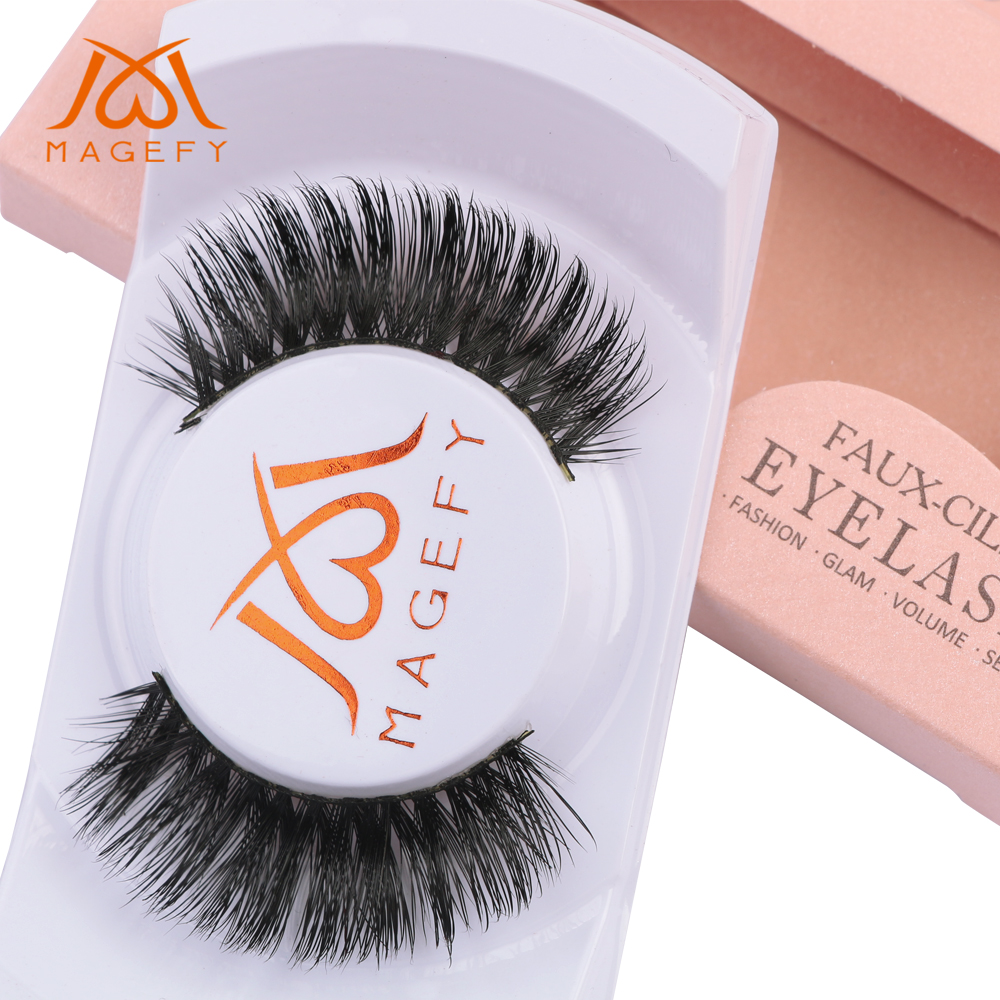 False Eyelashes Magefy Mink Hair False Eyelashes Set Thick Cross Cilia Professional Fake Eye Lashes Handmade Natural Long Makeup Extension Tools To Ensure Smooth Transmission Beauty & Health