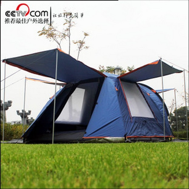 3-4 person use double layer waterproof windproof camping beach family tent 1