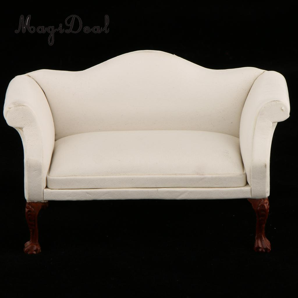 1/6 Dollhouse Miniature Double Wing Sofa Chair for Hot Toys Action Figures Accessory for Barbie Decor