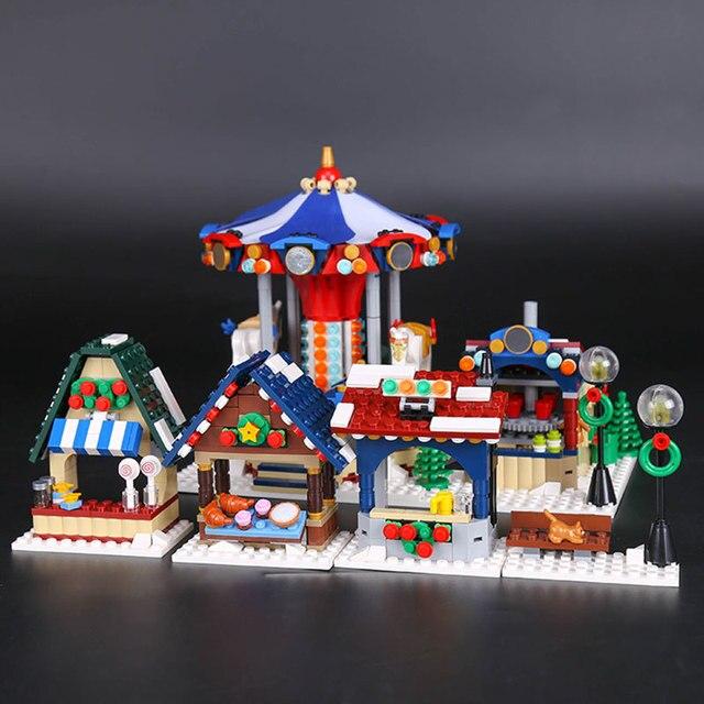 Lepin 36010 L\'hiver Village Marche Ensemble Assemblage1412Pcs 10235 ...