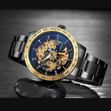 Langley Luxury Style Mechanical Skeleton Look Men's Watch